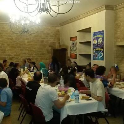 Environ 50 personnes étaient réunies pour partager ce repas