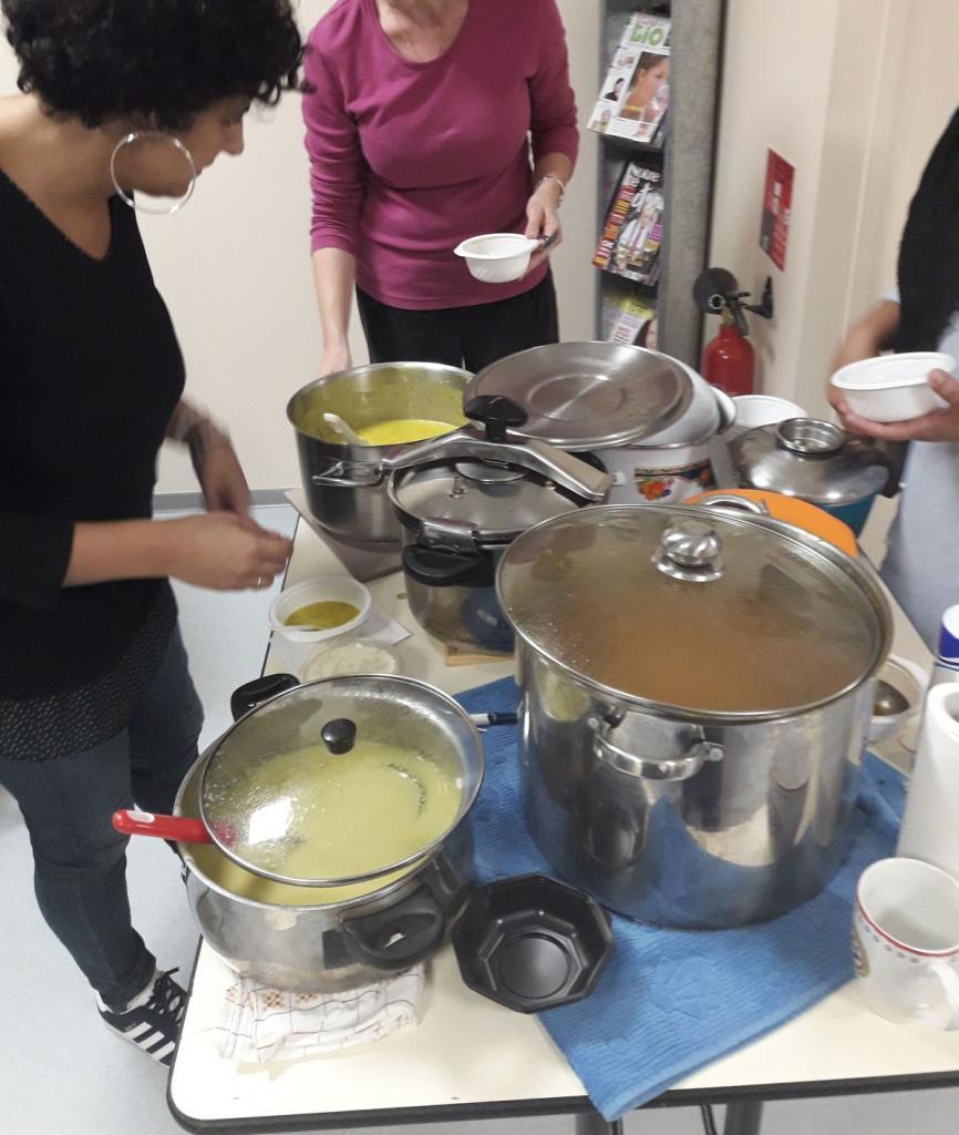 Du choix, car d'autres soupes ont été amenées (légumes, épinards, etc...)