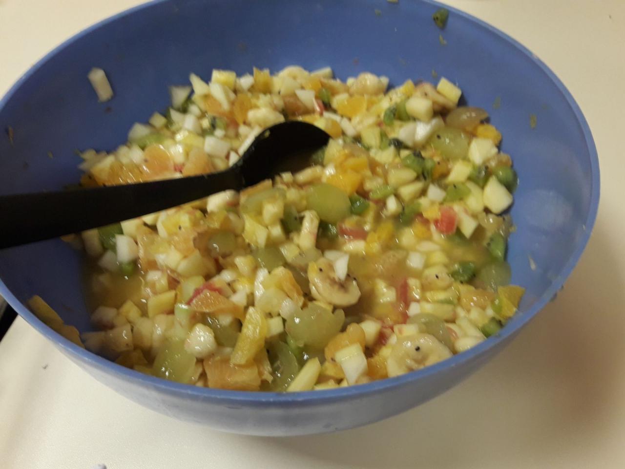 Salade de fruits pour le dessert
