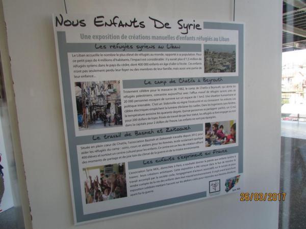 """Exposition """"Nous, enfants de Syrie"""""""