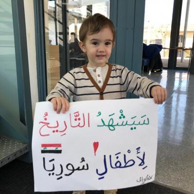 Messages de soutien aux enfants syriens