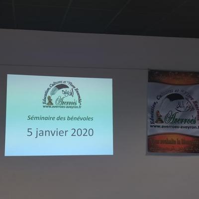 Séminaire des professeurs du 5/01/2020