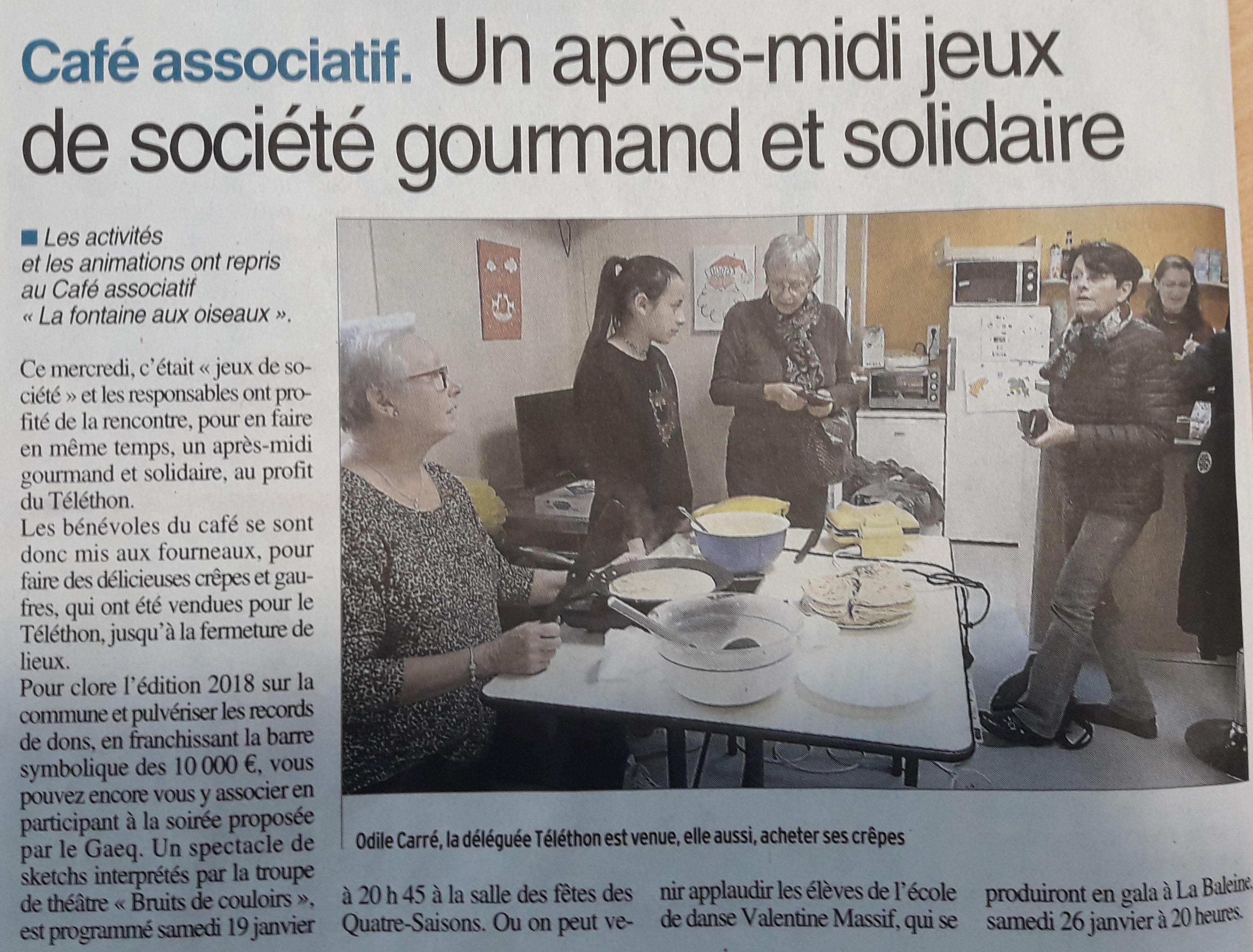 Téléthon - Centre-Presse 12-01-2019