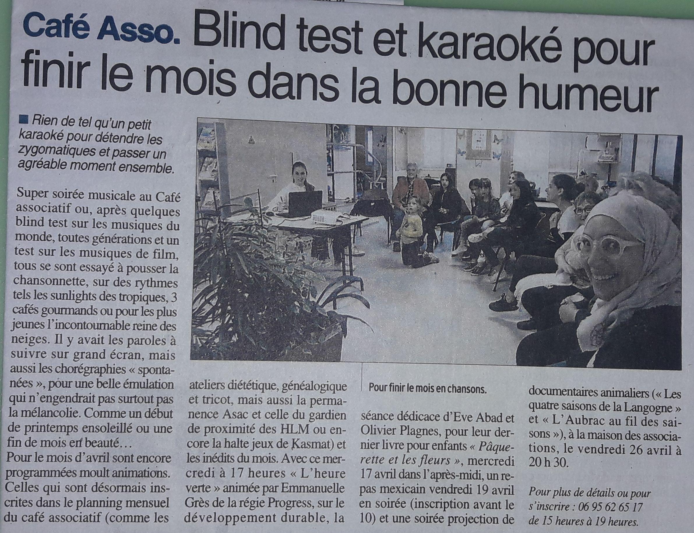 Karaoké - Centre-Presse 2-04-2019