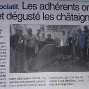 Grillée de Châtaignes - Centre-Presse 20-10-2018