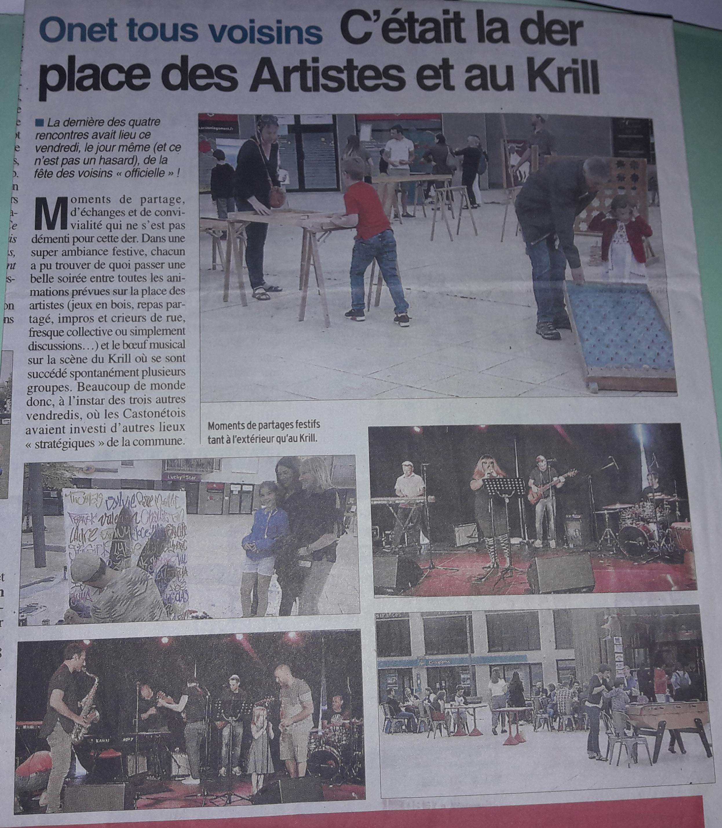 Onet Tous Voisins - Centre-Presse Juin 2018