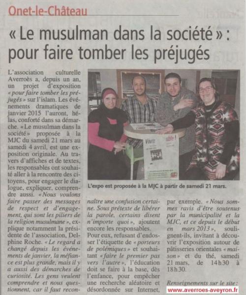 """Exposition """"Vivre ensemble """" - Centre-Presse / 16 mars 2015"""