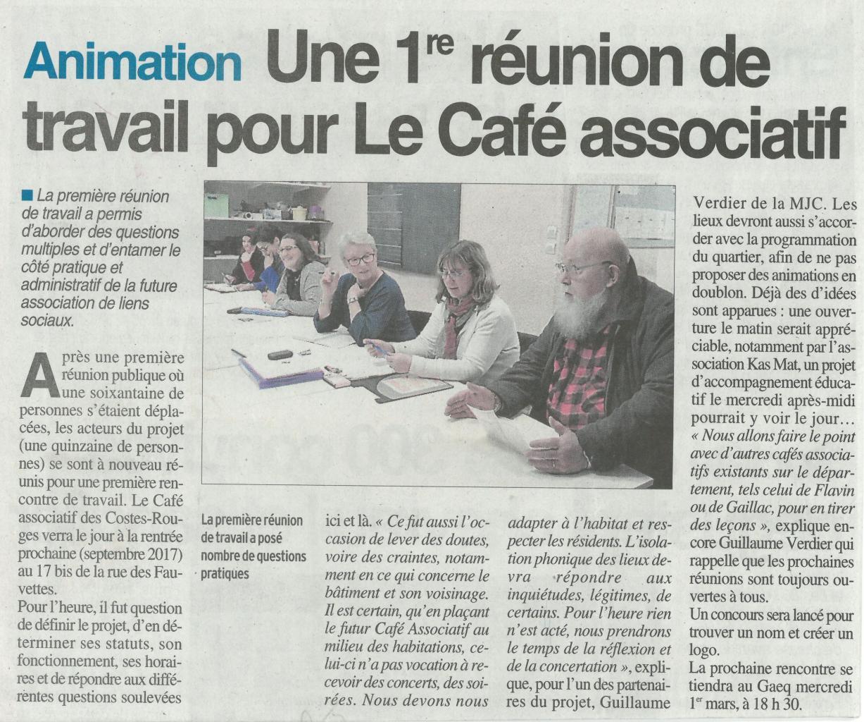 Café associatif des Costes-Rouges - Centre Presse / 4 février 2017