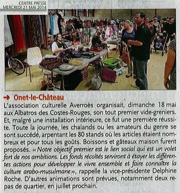 1er Vide-grenier - Centre-Presse / 21 mai 2014
