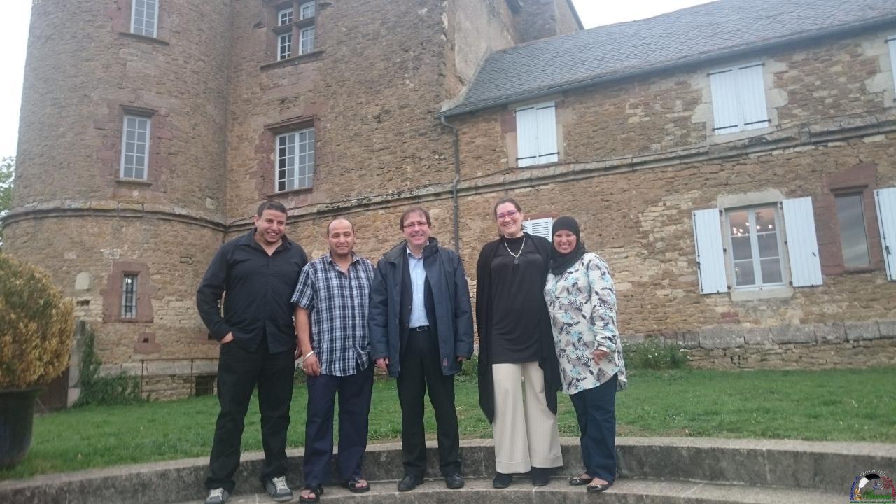 Fin de journée : les membres du bureau avec M. le Maire