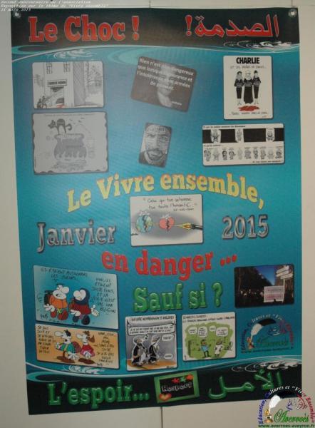 Entre choc et espoir, l'affiche réalisée après janvier 2015