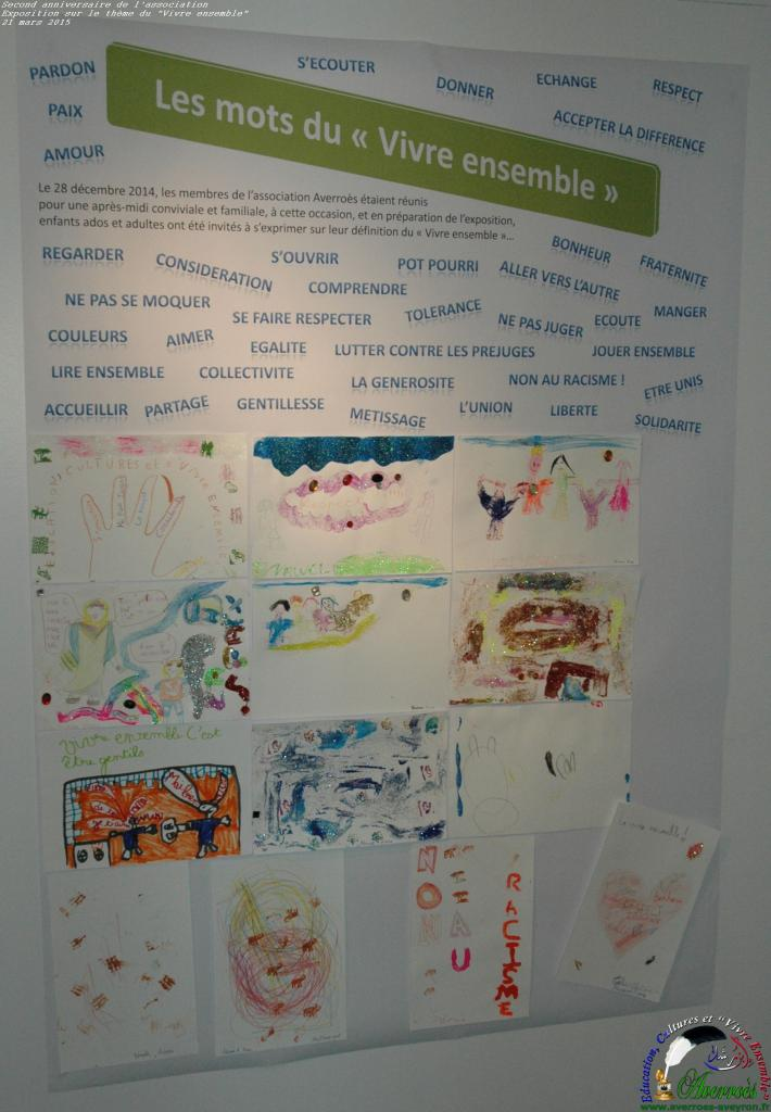 Les mots du vivre ensemble, dessins réalisés en décembre 2014