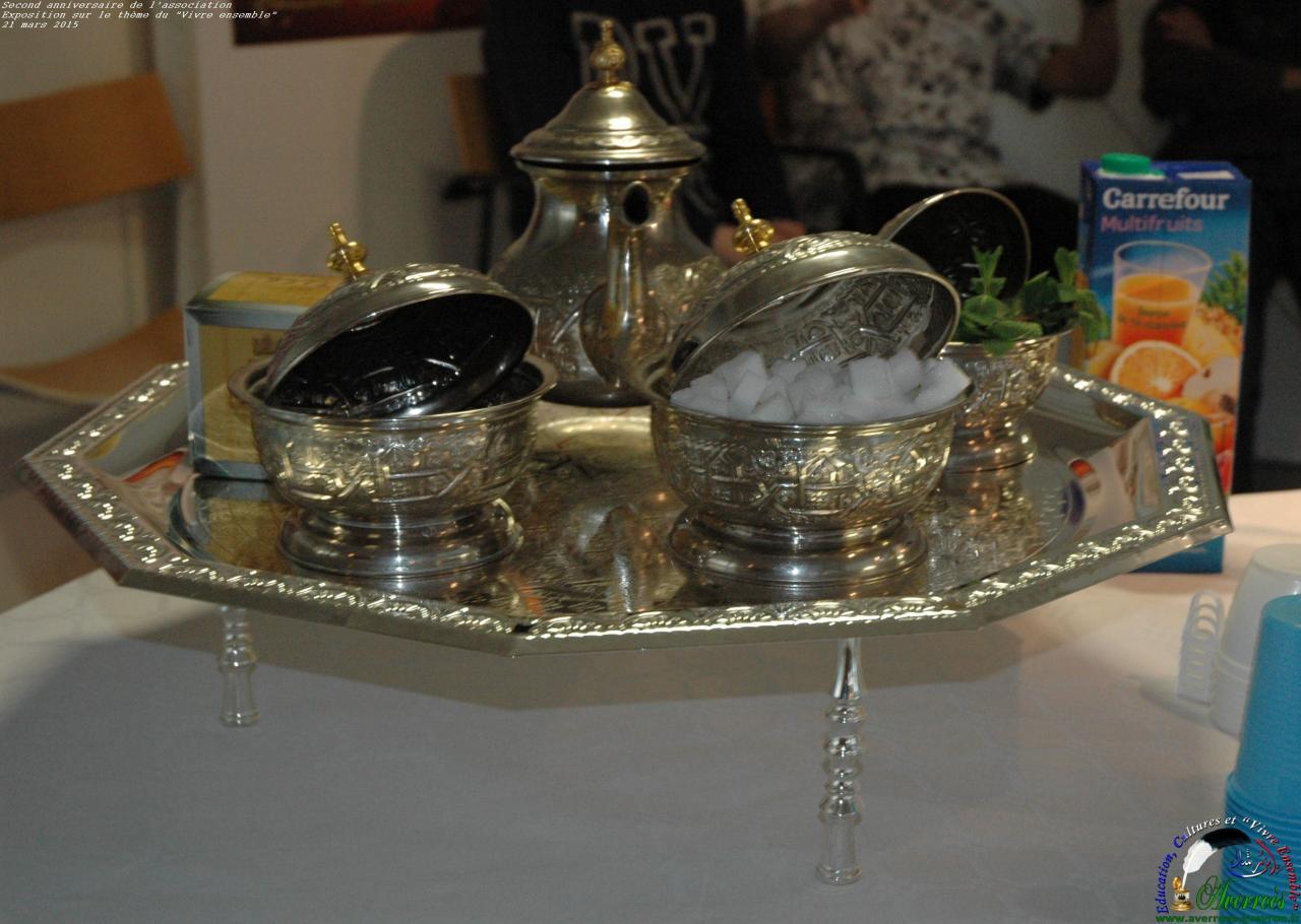 Les thé à la menthe comme un symbole d'hospitalité