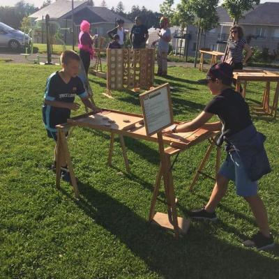 Jeux en bois avec