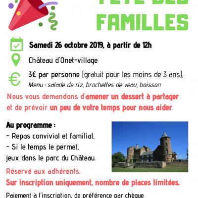 Fête des familles - 26/10/2019