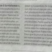Communiqué de presse - La Dépêche du Midi / 17 novembre 2015