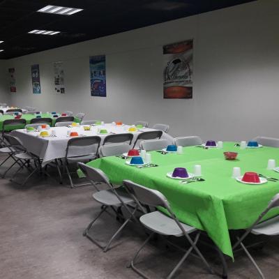 La salle est prête