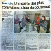 Soirée Couscous - La Dépêche 27-02-2019