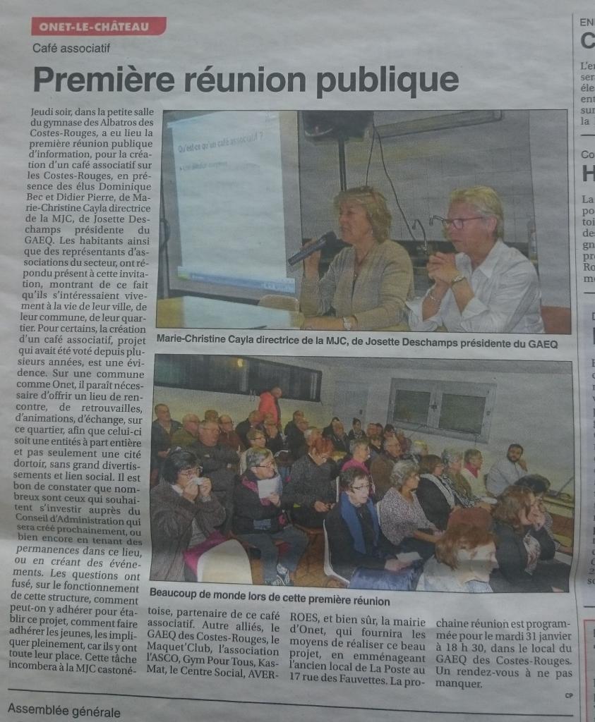 Café associatif des Costes-Rouges - Le petit journal de l'Aveyron / 26 janvier 2017