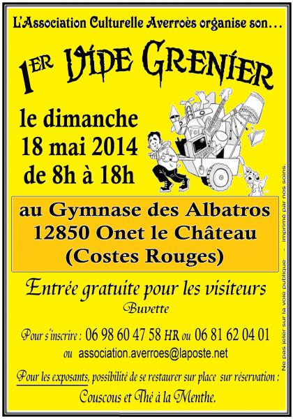 """Affiche 1er """"Vide-greniers d'Averroès"""""""